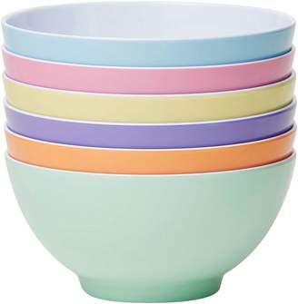 Barel Designs Barel Classic Melamine Bowl, Dream, 15cm (Set of 6)