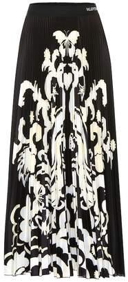 Valentino Printed jersey midi skirt