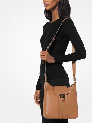 6a5991c091ea Michael Kors Bancroft Pebbled Calf Leather Messenger Bag