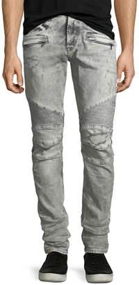 Hudson Men's Blinder Biker Jeans, Carbon Deconstructed - Long