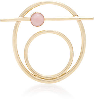 Suno Pili Restrepo 10K Gold Pink Opal and Cabachon Ring
