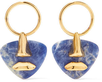 Paola Vilas - Breton Gold-plated Sodalite Earrings - Blue