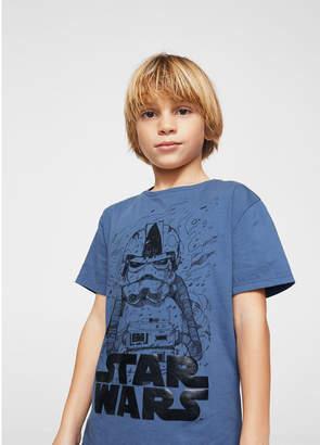 MANGO (マンゴ) - MANGO KIDS Tシャツ .-- WARS (ミディアムブルー)