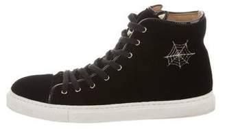 Charlotte Olympia Purrrfect High-Top Sneakers