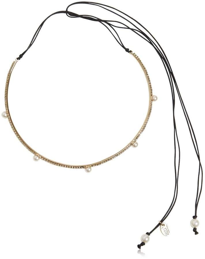 Halsband Mit Kristallen Und Perlenimitat