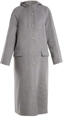 Joseph Rowen hooded wool and cashmere-blend coat