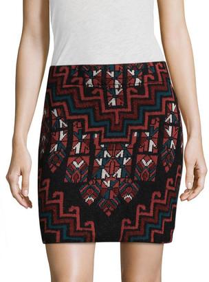 Mara Hoffman Rug Intarsia Mini Skirt
