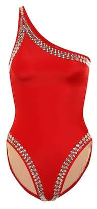 Norma Kamali Stud Mio one-shoulder swimsuit