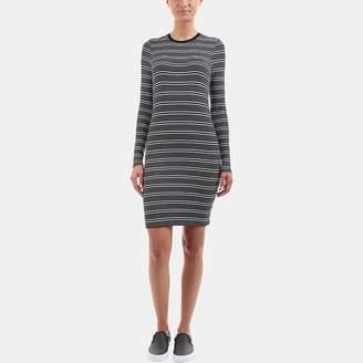 ATM Anthony Thomas Melillo Engineered Stripe Dress
