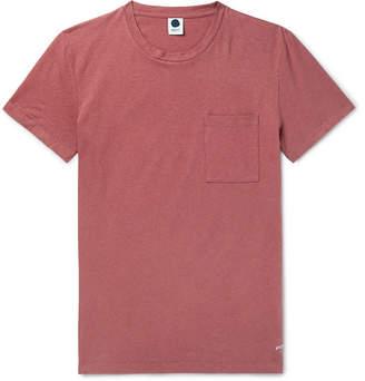 Nn07 NN07 - Barry Linen and Cotton-Blend T-Shirt - Men - Brick