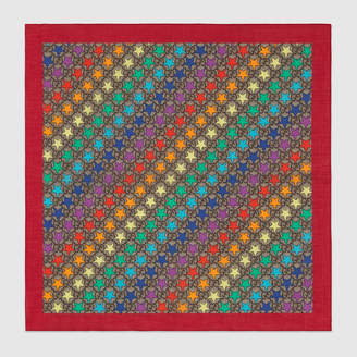 Gucci Children's GG rainbow star cotton pocket square