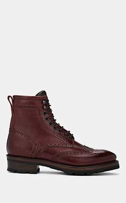 Project TWLV PROJECT TWLV MEN'S BALTIMORE LEATHER WINGTIP COMBAT BOOTS - MD. RED SIZE 11 M