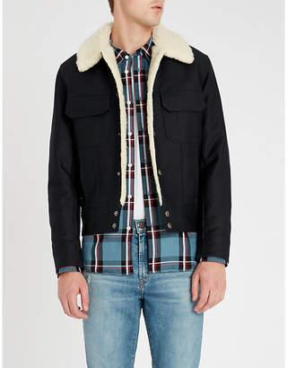 Sandro Tartan regular-fit brushed-cotton shirt