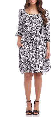 Karen Kane Belted A-Line Dress