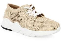 Clergerie Raffia Woven Sneakers