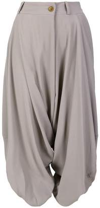 Vivienne Westwood cropped draped trousers