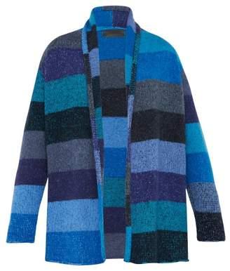 The Elder Statesman Italy Striped Smoking Jacket - Mens - Blue Multi