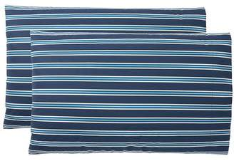 Pottery Barn Teen Keaton Stripe Pillowcases, Set of 2, Blue