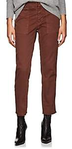 Nili Lotan Women's Jenna Cotton Twill Slim Boyfriend Pants - Rust