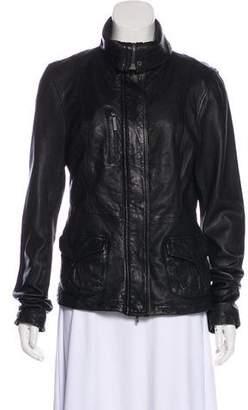 Vince Lightweight Leather Jacket