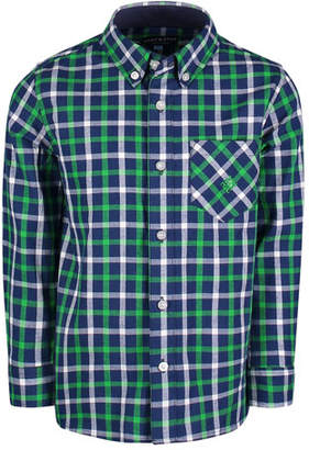 Andy & Evan Long-Sleeve Flannel Button-Down Shirt, Size 2-7