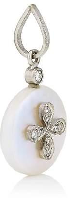Cathy Waterman Women's Mabe Pearl & Diamond Flower Pendant - Pearl