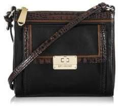 Brahmin Mimosa Tri-Texture Leather Crossbody Bag $205 thestylecure.com