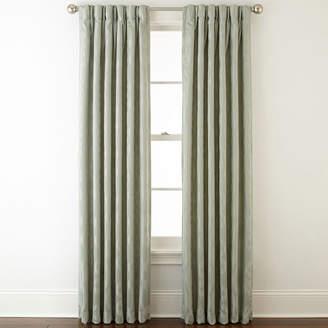 Liz Claiborne Simone Pinch-Pleat/Back-Tab Curtain Panel