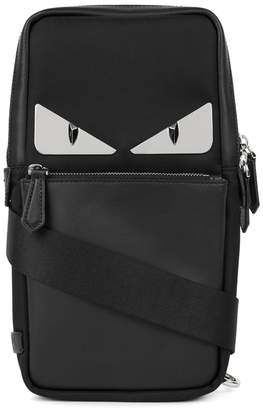 Fendi Monster Nylon And Leather Cross-body Bag