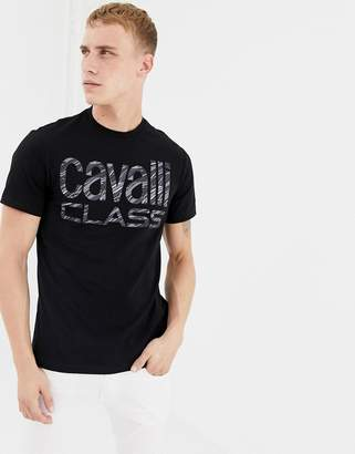 Class Roberto Cavalli t-shirt in black with large logo