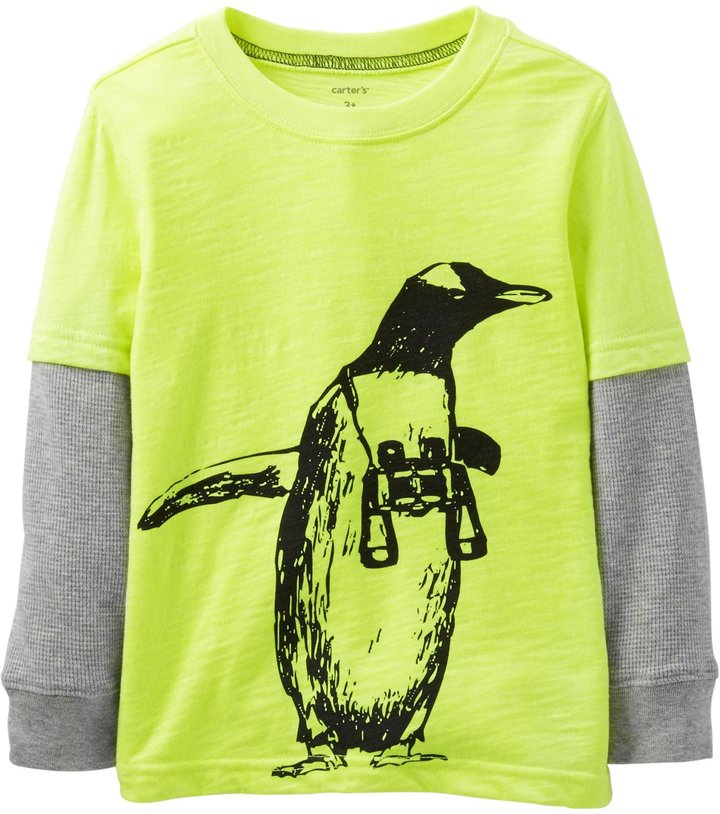 Carter's Graphic Two Fer (Toddler/Kid) - Yellow-5T