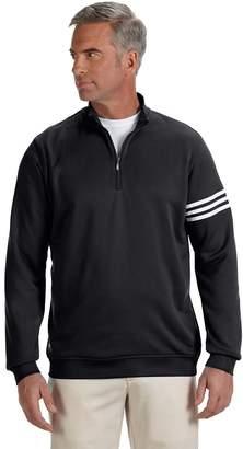 adidas Men's ClimaLite 3-Stripes Half Zipper Pullover, Blk/Wht