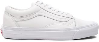 Vans Leather OG Old Skool LX in White | FWRD