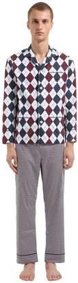 70's Style Printed Poplin Pajamas