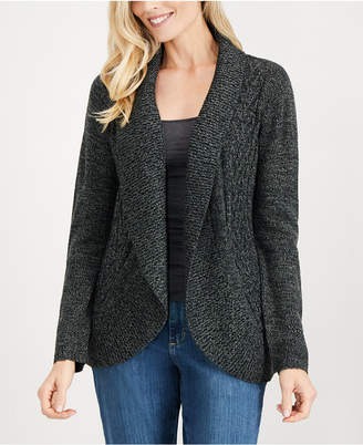 Karen Scott Open-Front Curved-Hem Cardigan