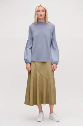 Cos TOP WITH VOLUMINOUS SLEEVES