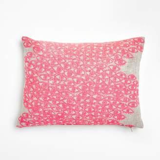Lucky Fish Evil Eye Pillow Neon Pink
