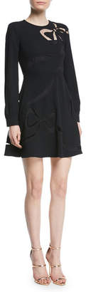 RED Valentino Sable Dress with Cutout Bow Details