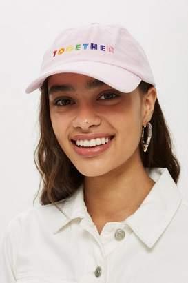 Topshop 'Together' Slogan Cap
