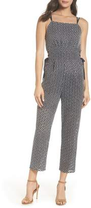 LENON Embroidered Side Tie Jumpsuit