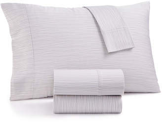 Aq Textiles Closeout! Modernist Printed Wavy Stripe 4-Pc. King Sheet Set, 750-Thread Count Cotton Blend