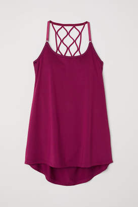 H&M Sports Top with Sports Bra - Pink