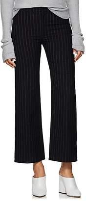 Philosophy di Lorenzo Serafini Women's Pinstriped Cotton-Wool Crop Trousers