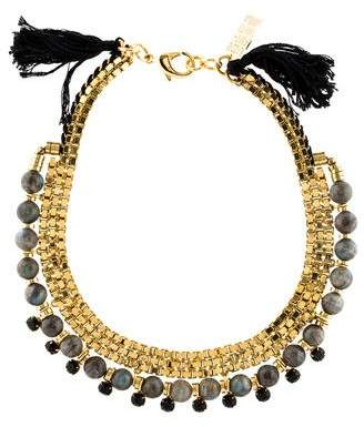 Lizzie Fortunato Labradorite & Crystal Collar Necklace