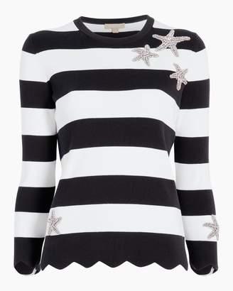 Michael Kors Starfish Striped Scallop T-Shirt