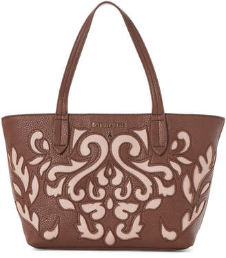 Patrizia Pepe Brown & Rose Faux Leather Borsa Bag