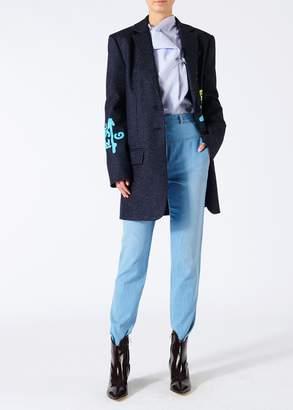 Tibi Tweed Stripe Oversized Blazer