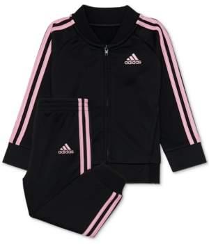 adidas Little Girls 2-Pc. Tricot Track Jacket & Pants Set