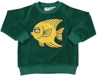 Mini Rodini Fish Printed Organic Cotton Sweatshirt