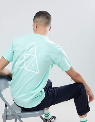HUF T-Shirt With Triple Triangle Back Print In Green